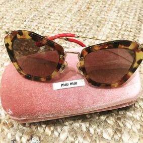 66dd6da83f4a5 Oculos Feminino Miu Miu Original - Óculos De Sol no Mercado Livre Brasil