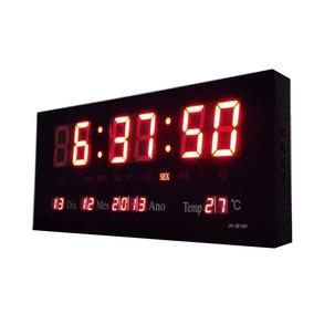 fa01843f1b2 Relógio De Parede Digital Temperatura Calendário Retangular - Joias ...