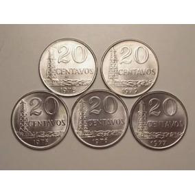 Série De 20 Centavos 1975/1976/1977 Novas