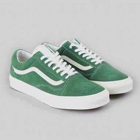 4cc9b2a648d Tenis Vans Feminino Com Estrelas Keds Old Skool - Vans Verde no ...