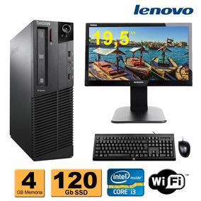 Cpu Lenovo M92 Core I3 4gb Ddr3 Hd 120gb + Monitor 19,5