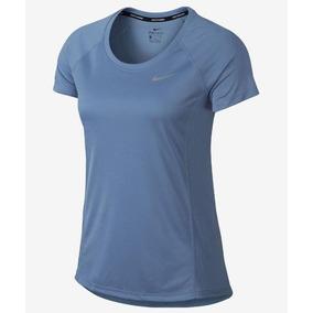aee15578c29b4 Camiseta Nike Dry Miler Feminina Azul Dri Fit Original