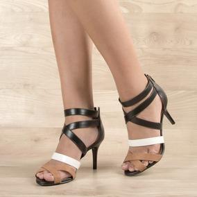 Sandália Salto Baixo Com Tiras, Do 34 Ao 39, Multicolor