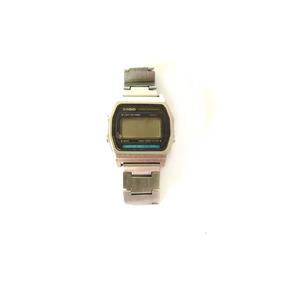 8100db3ce7a Sucata Bom Estado Original Casio Relógio Prateado