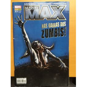 Hq Marvel Max 77 Nas Garras Dos Zumbis Evil Dead Justiceiro