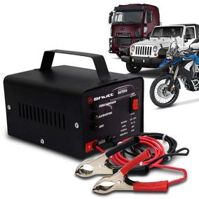 Carregador De Bateria Automotivo Bivolt 12v Com Led Shutt