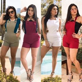 Jardineira Macaquinho Macacão Bergaline Moda Blogueira