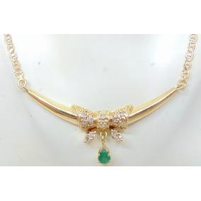 1f40114b81133 Colar De Diamantes E Esmeralda Da Talento Joias - Colar no Mercado ...