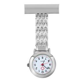 Kit 10 Unid Relógio Lapela Aço Inox Jaleco Enfermeira Broche
