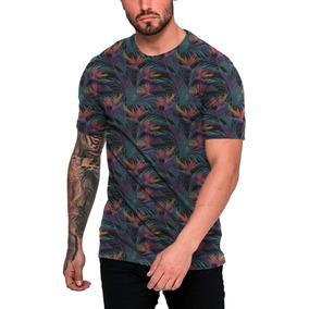 Camiseta Long Line Florida Azul Marinho - Camisetas Manga Curta no ... 7f27f522706c4