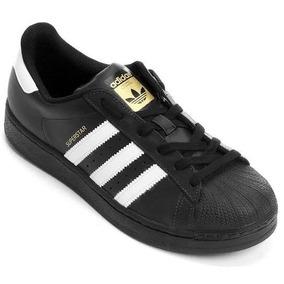 Tênis adidas Superstar Foundation Preto / Branco - Original