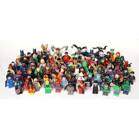 Kit 25 Bonecos Boneco Heróis Marvel Hulk Goku Gohan