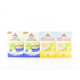 Cereal Orgánico Para Bebé Avena Y Plátano Paquete 4