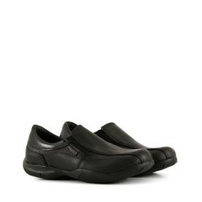 Zapatos Colegiales Náuticos Varón Cuero Negro Del 34 Al 40