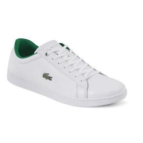 69180a4622f7c Tenis Casual Lacoste Hombre Piel Blanco Verde 42326 Dtt