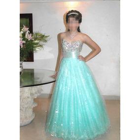 Vestido De Xv Años Diseñador Carlo Giovanni Azul Aqua Usado