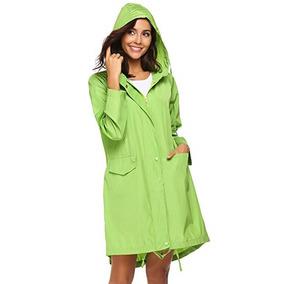 Chaqueta Impermeable Para Lluvia Verde Limon Marca Teewanna