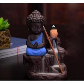 Incensário Buda Rocha Cascata Fumaça Invertida + 5 Incenso