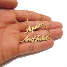 7882258606bc4 Corrente Com Nome E Desenhos Personalizado Correntes Ouro - Joias e ...