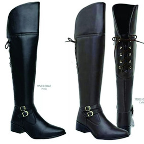 Bota Over Knee Ziper Dourado Feminino - Sapatos no Mercado Livre Brasil c7a625bb2cf33