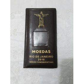 Porta Moedas Couro Comemorativas Olimpíadas 2016 Fretebarato
