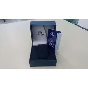 Caixa Relógio Festina + Certificado De Garantia