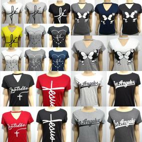 8d60b3c66 Kit 10 Camisetas Frases Evangélicas Atacado - Camisetas e Blusas no ...