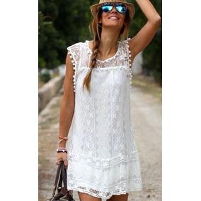 Vestido De Encaje Juvenil Blanco Talla Juvenil!!!