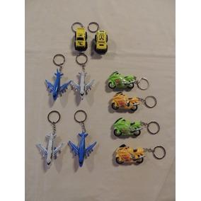 Kit 10 Chaveiros Carrinhos, Motos E Aviões - Cod02