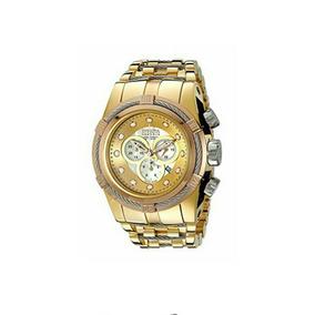 Hermoso Reloj Invicta Bolt Reserve 51mm Ionizado En Oro 18k