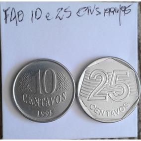 Arremate Set Moeda Da Fao - 1995 -10 E 25 Ctvs - Inox