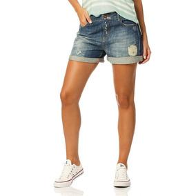 Shorts Feminino Boyfriend Barra Dobrada Sobreposto-sp6161