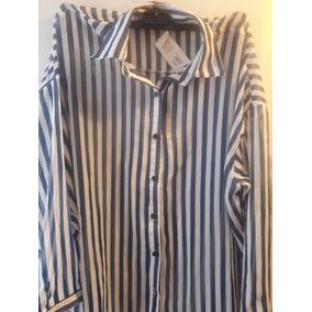 Camisa Rayas Azules Mujer - Ropa 22dd98f7e5f