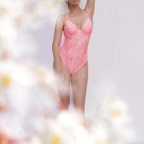 Bodysuit Malla Transparente Sexy Candy Cotton Envio Gratis