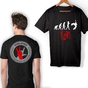 Camisetas De Bandas De Rock Manga Corta - Playeras de Hombre Negro ... f9e8ddfb51a7f