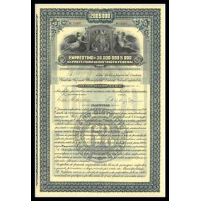 Apólice - Prefeitura Do Distrito Federal - 1906