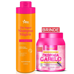 Shampoo Magic Color Alisante 1000ml + Brinde Desmaia Cabelo