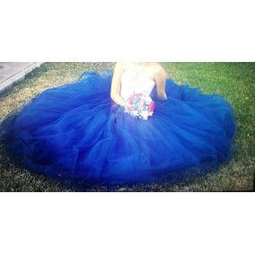 Vestido Xv Años Azul Petroleo