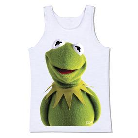 2ee5d055f6ffb Camiseta Regata Caco Kermit Mupets