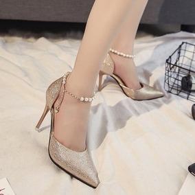 f5440465073 Zapatos Dorados Tacones - Zapatos para Mujer en Mercado Libre Colombia
