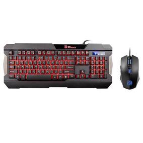 Teclado Y Mouse Tt Esports Commander Multiluminado Tienda Of
