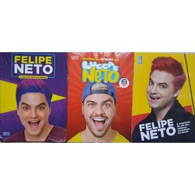 Luccas Neto E Felipe Neto Kit 3 Livros Frete 23