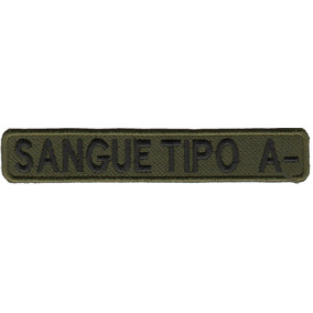 Patch Roupa Tarja Airsoft Policia Sangue Tipo Rh A-