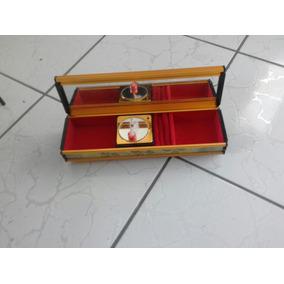 Porta Joias Caixa De Música Relógio Antigo Raridade Peça Já