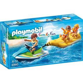 Playmobil 6980 Praia Banana Boat Jet Ski Prod Europ Novo
