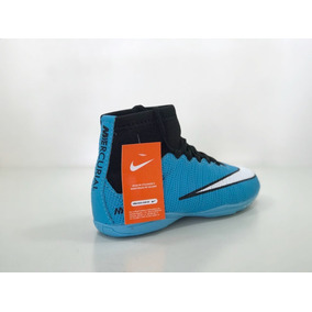 775cf8615 Chuteira Nike Mercurial Futsal Cr7 Botinha Diamond - Chuteiras Azul ...