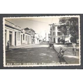 Postal Foto Brasil 20 Paranaguá Rua Farinha Sobrinho Anos 50