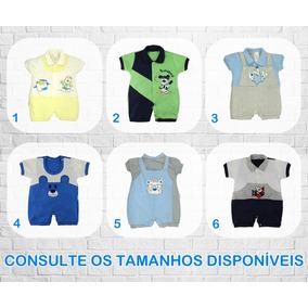 Macacao Curto Bebe Menina Verao - Roupas de Bebê Azul no Mercado ... 55216d0cd51