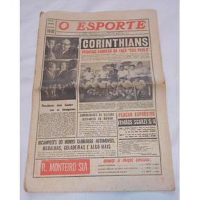Jornal O Esporte 22 Junho 1962 Corinthians Primeiro Campeão