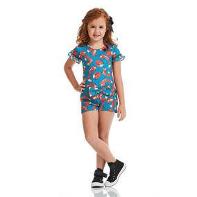 Body Acostamento Infantil Fashion Fox Dreams Azul